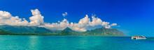 Panoramia Of Tropical Lagoon, ...