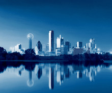 Dallas Skyline Reflection At D...