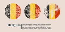 Belgium Flag Design Concept. F...