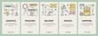 Vector thin line flat design e-commerce concept vertical banners
