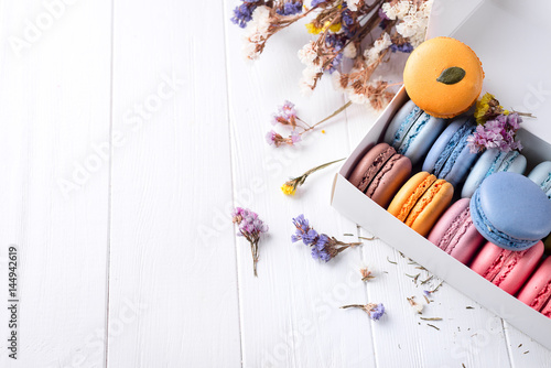 French colorful macarons Poster Mural XXL