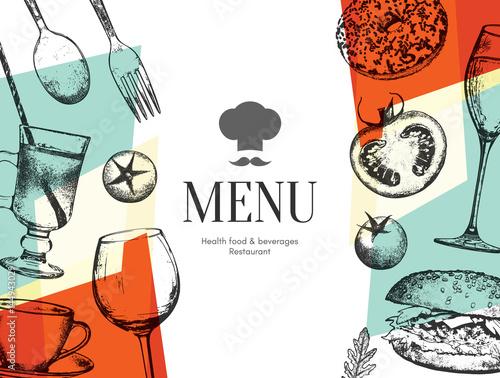 Fotomural Restaurant menu design