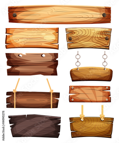 Photographie Vintage empty or blank wooden signboards