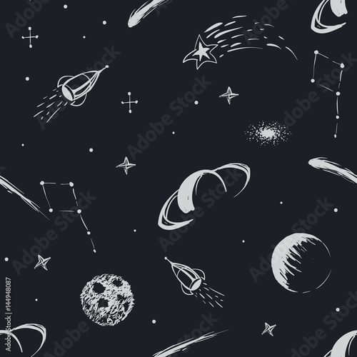 vector-space-seamless-pattern