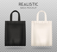 Black White Tote Bags Transpar...