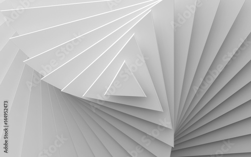 white background of different scale triangles Fototapeta