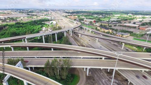 Deurstickers Fiets Houston stack interchange panorama