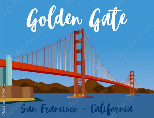golden gate Wallpaper Mural