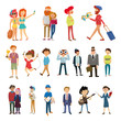Large set of people, profession, hobbies, relationships, vector