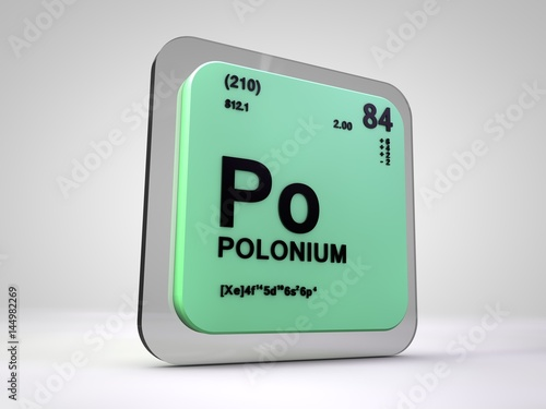 Polonium Po Chemical Element Periodic Table 3d Render Buy This