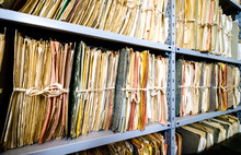 Old Documents At A Rack - Nice Background