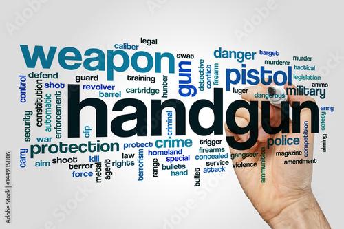 Fotografía  Handgun word cloud concept