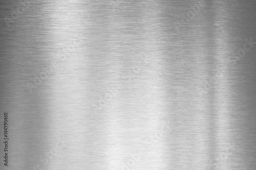 Türaufkleber Metall brushed silver metal plate