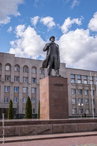 Papiers peints Europe de l Est Lenin's Statue in Hrodna in Belarus
