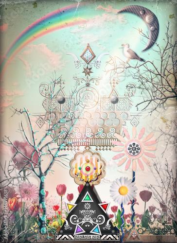 Aluminium Prints Imagination Castle of dreams series