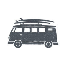 Surf Trip Concept Vector Summe...