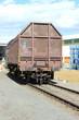 Güterverkehr: Waggon in einem Bahnhof