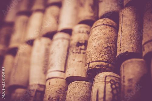 Valokuva  Blank Wine corks background