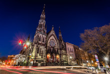 Early Learning Center Church In Mount Vernon Baltimore Maryland At Night