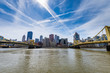Skyline of Pittsburgh, Pennsylvania from Allegheny Landing from across the Allegheny River