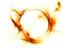 Abstract Fiery Circle On A White Background