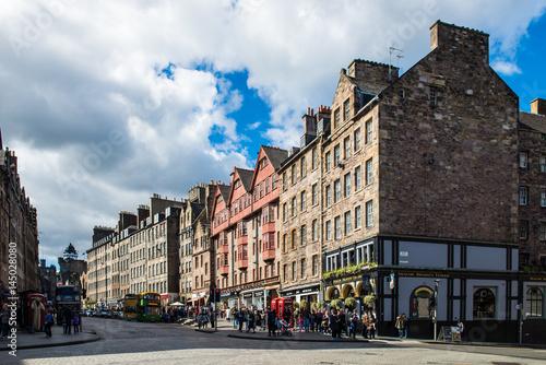 Obraz na dibondzie (fotoboard) Busy Street Royal Mile w Edynburgu, Szkocja, Wielka Brytania