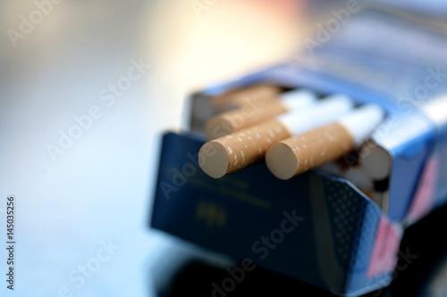 Cigarettes background. Fototapet