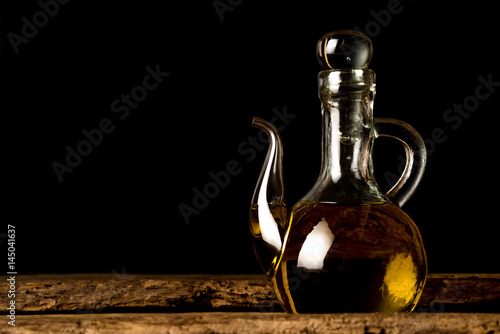 Extra virgin olive oil vintage jar