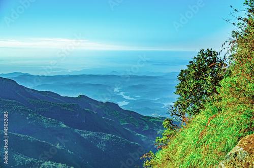 Papiers peints Piscine Horton Plains National Park. Big world`s end. Sri Lanka (Ceylon)