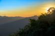 Sunrise serenity mountain landscape