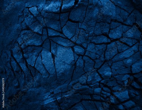 Photo sur Toile Les Textures Blue Close up rocks.