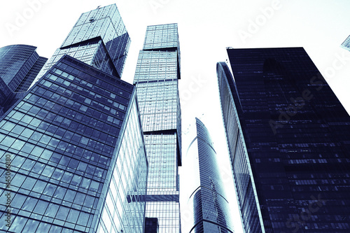 skyscrapers city business background Poster