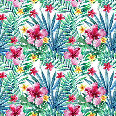 Fototapeta Egzotyczne Abstract tropical summer seamless pattern.