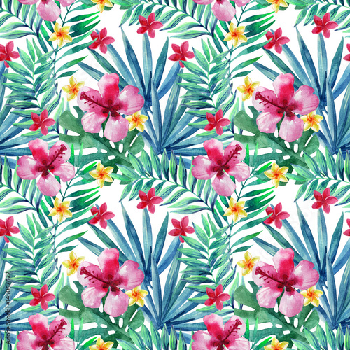Abstract tropical summer seamless pattern. - 145067672