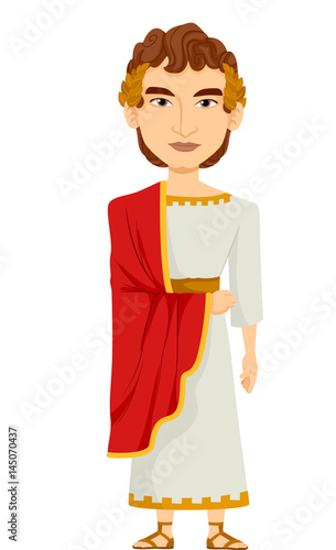 Man Roman Emperor Costume Canvas-taulu