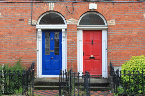Photo  Georgian doors in Dublin, Ireland