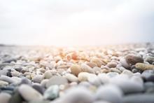 Sea Stones Close Up Summer Background