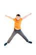 Happy boy jumping
