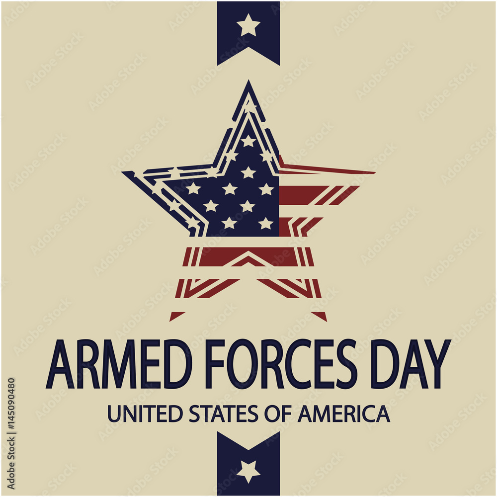 Fototapety, obrazy: Armed forces day card or background. vector illustration.