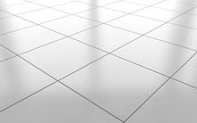 White Glossy Ceramic Tile Floo...