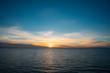 Wonderful sunset over Baltic sea