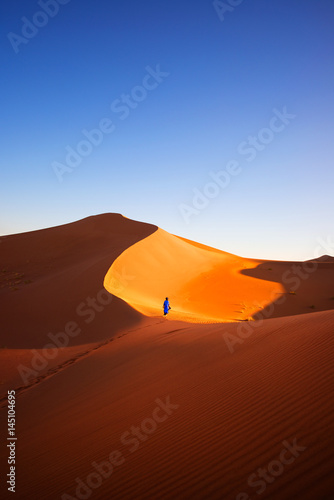 Alone in Sahara, Morocco