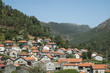 Village in mountain valley in portugal