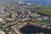 Aerial View Of City And Gulf C...