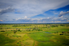 Aerial View Of The Okavango Delta.