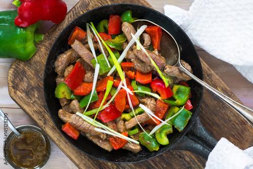 Photo  Beef stir fry