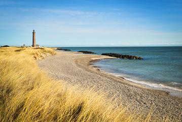 Fototapeta Lighthouse in Skagen, Denmark, on a sunny day