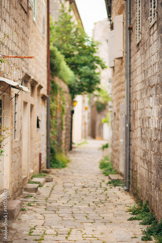 Fototapety, obrazy: The old fishing town of Perast on the shore of Kotor Bay in Montenegro.