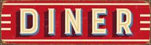 Vintage Metal Sign - Diner - V...