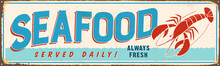 Vintage Metal Sign - Seafood -...